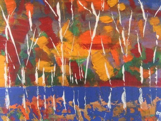 Bien-aimé jardin japonais PAR aaron jika 30×40 at artiste peintre  AZ01